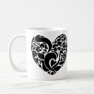 Nature heart design mug
