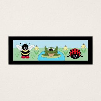 Nature mignonne/signets animaux mini carte de visite