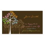 Nature quatre cartes de visite de coutume d'arbres cartes de visite professionnelles