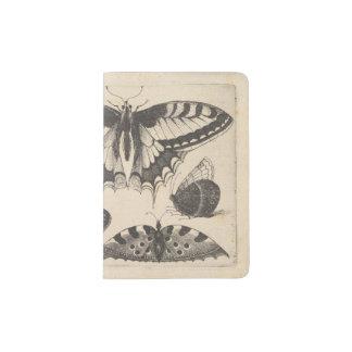 Nature vintage de lépidoptères de papillons protège-passeport