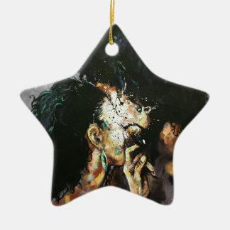 Naturellement XXIV Ornement Étoile En Céramique