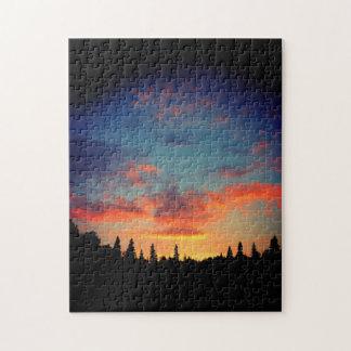 Natures meilleures - fin du coucher du soleil de puzzle