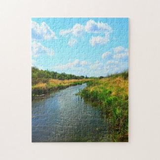Natures meilleures - Prairie Creek en été Puzzle