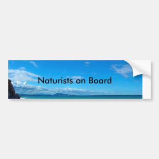 Naturists on Board Autocollant Pour Voiture