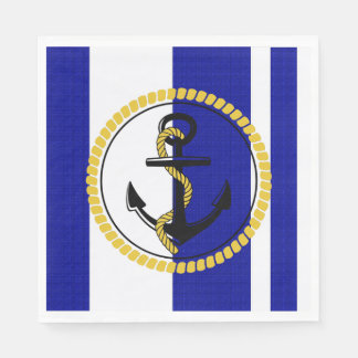 Nautical_Navy-Stripe_Anchor_ Serviettes En Papier