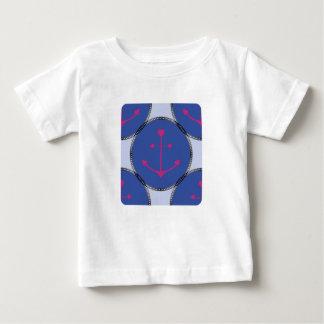 Nautical_Patch-Anchor's_Toddler-Adult-Multi-Top T-shirt Pour Bébé