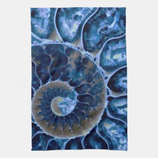 nautilus bleu électrique serviettes éponge