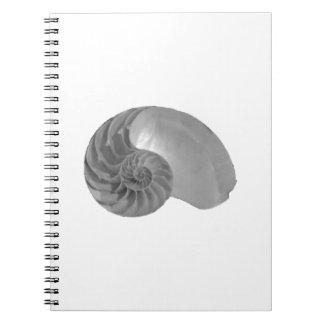 Nautilus Shell de simplicité de complexité Carnet À Spirale