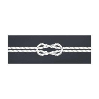 Nautique. Noeud de corde. Fond de marine Toile