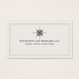 Nautique traditionnel de logo de boussole cartes de visite