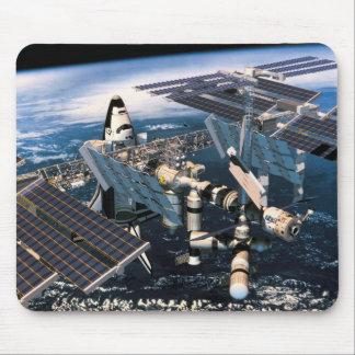 Navette spatiale accouplée tapis de souris