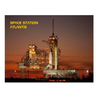 Navette spatiale l'Atlantide Carte Postale