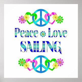 Navigation d amour de paix poster