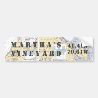 Navigation de longitude de latitude de Martha's Autocollant De Voiture