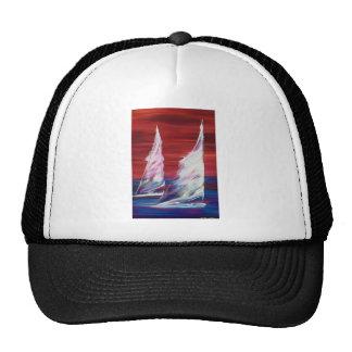 navigation d'océan de bateau à voile casquettes de camionneur
