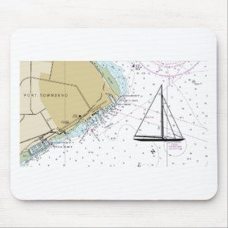 Navigation du tapis de souris nautique de carte