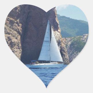 Navigation le long de la côte de la Sardaigne Autocollants
