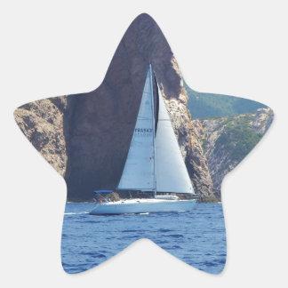 Navigation le long de la côte de la Sardaigne Autocollants En Étoile
