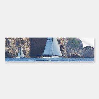 Navigation le long de la côte de la Sardaigne Autocollant De Voiture