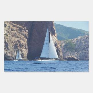 Navigation le long de la côte de la Sardaigne Sticker Rectangulaire
