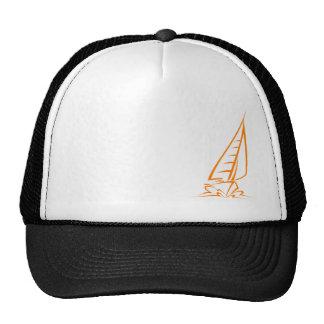 Navigation orange casquettes