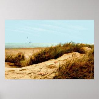 Navigation par la dune de sable poster