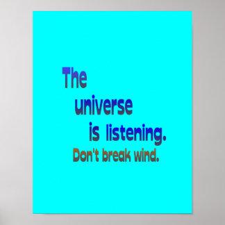 Ne cassez pas le vent - l univers écoute posters