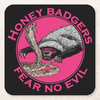 Ne craignez aucune conception animale rose drôle dessous-de-verre carré en papier