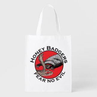 Ne craignez aucune conception rouge animale drôle sac réutilisable