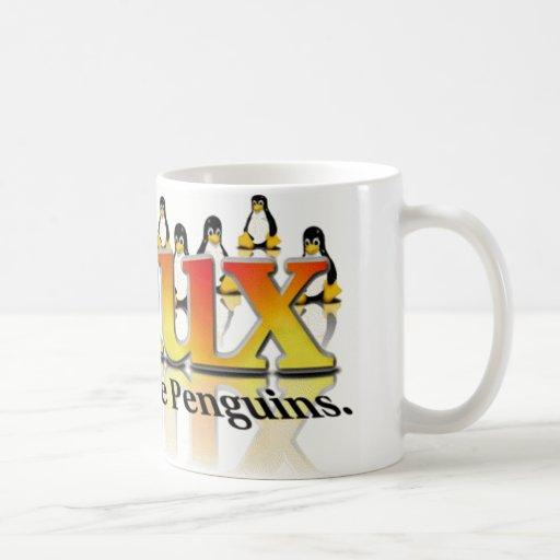 Ne craignez pas le pingouin tasses