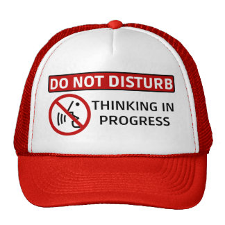 NE DÉRANGEZ PAS : Pensée en cours (Red Hat) Casquette Trucker