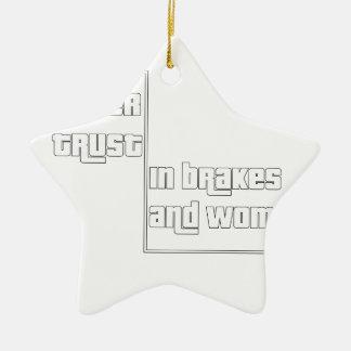 Ne faites jamais confiance dans les freins et les ornement étoile en céramique