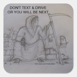 Ne font pas l autocollant des textes et de faucheu