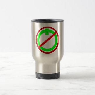 Ne font pas le bouton marche mug de voyage en acier inoxydable