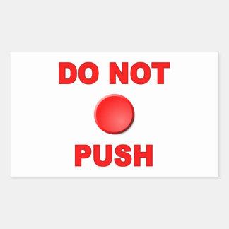 Ne font pas le bouton poussoir sticker rectangulaire