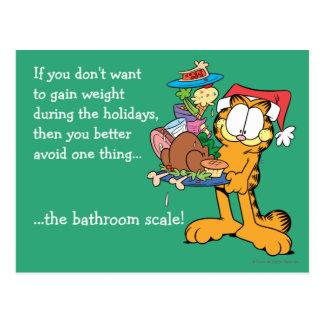 Ne gagnez pas le poids pendant les vacances carte postale