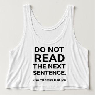 Ne lisez pas débardeur