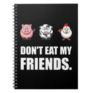 Ne mangez pas mes amis carnet