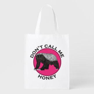 Ne m'appelez pas art de féministe de rose de sac réutilisable