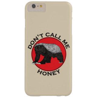 Ne m'appelez pas miel, art féministe rouge de coque barely there iPhone 6 plus
