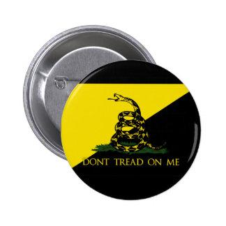 Ne marchez pas sur moi le drapeau d'anarchiste badge