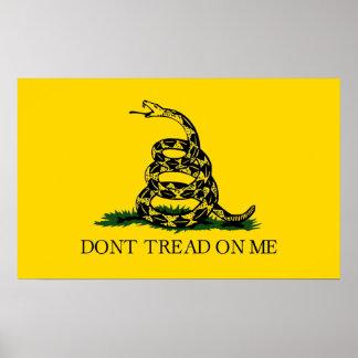 Ne marchez pas sur moi - le drapeau de Gadsden Posters