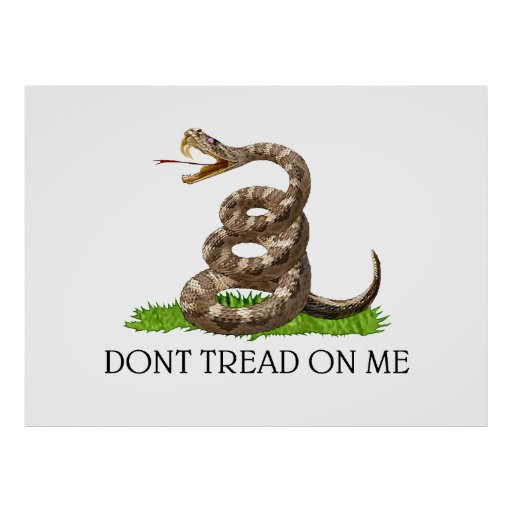Ne marchez pas sur moi le drapeau de révolution am poster