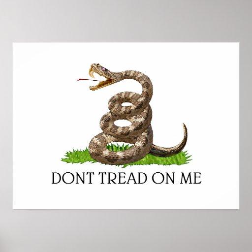 Ne marchez pas sur moi le drapeau de révolution am affiche