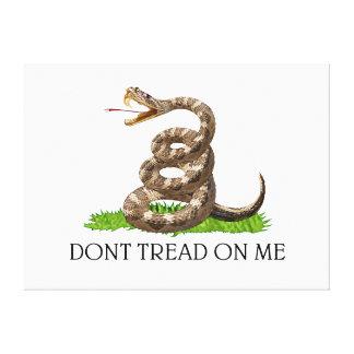 Ne marchez pas sur moi le drapeau de révolution am toile tendue sur châssis