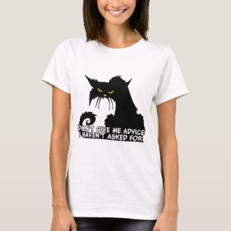 Ne me donnez pas les conseils dire fâché de chat t-shirt