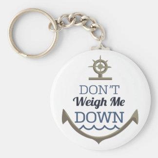Ne me pesez pas vers le bas porte-clé rond
