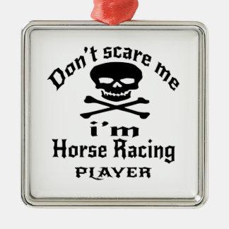 Ne m'effrayez pas que je suis joueur de course de ornement carré argenté