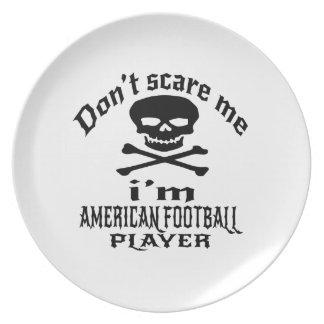 Ne m'effrayez pas que je suis joueur de FOOTBALL Assiette