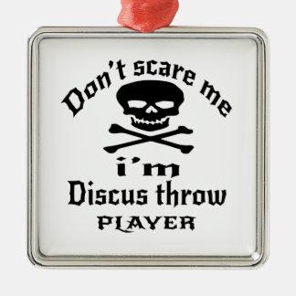 Ne m'effrayez pas que je suis joueur de lancée de ornement carré argenté